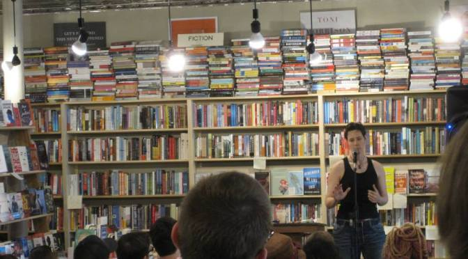 Foxings: What am I doing without my shirt at a book store?